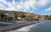 Beach in Santa Cruz, Madeira island, Portugal — Stock Photo
