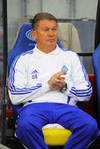 FC Dynamo Kyiv manager Oleg Blokhin — Stock Photo