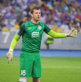 Goalkeeper Jan Lastuvka of FC Dnipro — Stock Photo