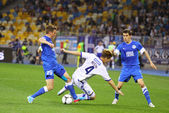 Football game FC Dynamo Kyiv vs FC Dnipro — Stock Photo