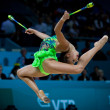 Rhythmic Gymnastics World Championship — Stock Photo