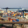 Stock Photo: Industrial landscape of Odesa seaport, Ukraine