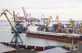 Industrial landscape of Odesa seaport, Ukraine — Stock Photo