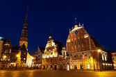 Town Hall square, Riga, Latvia — Stock Photo