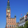 Old Town Hall in City of Gdansk, Poland — Stock Photo