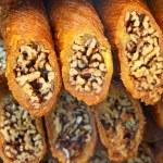 Traditional Turkish baklava dessert — Stock Photo