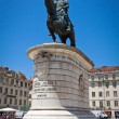 Equestrian Statue of Dom Joao I in Lisbon, Portugal — Stock Photo