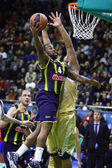Turkish Airlines Euroleague game Budivelnik vs Fenerbahce Ulker — Stock Photo