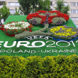Logo of UEFA EURO 2012 tournament made from flowers — Stock Photo