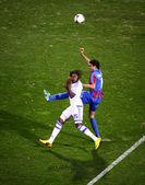 Football game Arsenal vs Dynamo Kyiv — Stock Photo