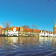 Skyline of medieval city of Lubeck, Germany — Stock Video #36169609