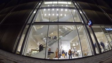 People walking at shopping mall in Luebeck, Germany (Time Lapse) — Stock Video