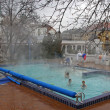 Stock Photo: People have thermal bath in Gellert spin Budapest