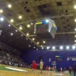 Basketball game BC Budivelnik vs FC Barcelon(Time Lapse) — Stock Video #36882613