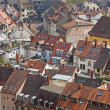 Roofs of buildings in Freiburg im Breisgau city — Stock Photo