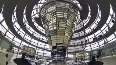 Reichstag building in Berlin, German parliament (Bundestag) — Stock Video