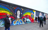 East Side Gallery in Berlin, Germany — Stock Photo