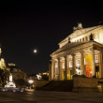 Gendarmenmarkt Square at night, Berlin, Germany — Stock Photo #38223015