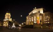 Gendarmenmarkt Square at night, Berlin, Germany — Stock Photo