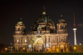 Berlin Cathedral at night. Berlin, Germany — Stock Photo