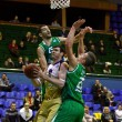 Basketball EuroCup game between Budivelnik Kyiv and Union Olimpi — Stock Photo #39346177