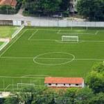 Little town soccer field — Stock Photo #3961925