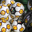 Close-up official UEFA EURO 2012 balls — Stock Photo #39917941