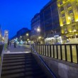 Stock Video: People walking near tram stop in Budapest city (Time Lapse)