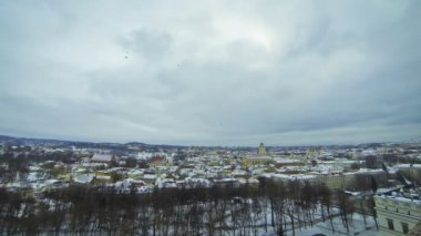 Panoramic view of Vilnius city, Lithuania — Stock Video