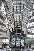 Glass Dome on the top of Reichstag (Bundestag) building — Stok fotoğraf
