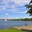 Pfaffenteich lake in Schwerin city, Germany — Stock Photo #43580441