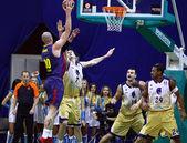 Euroliga de basquete jogo Budivelnik Kyiv vs Fc Barcelona — Fotografia Stock