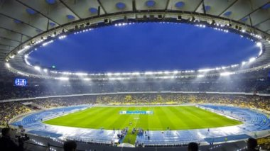 Football game FC Dynamo Kyiv vs Shakhtar Donetsk — Stock Video
