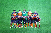 FC Shakhtar Donetsk team pose for a group photo — Stock Photo