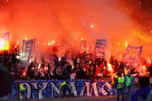 FC Dynamo Kyiv ultra supporters — Stock Photo