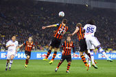 Football game FC Dynamo Kyiv vs Shakhtar Donetsk — Stock Photo