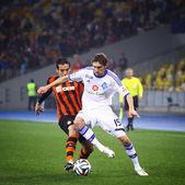 Ukraine Championship game FC Dynamo Kyiv vs Shakhtar Donetsk — Stock Photo