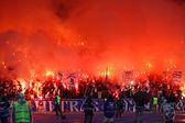 FC Dynamo Kyiv ultra supporters — Stock Photo