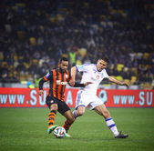 Football game FC Dynamo Kyiv vs Shakhtar Donetsk — Stock Photo