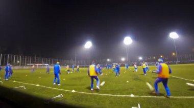 Training session of Ukraine National Football Team — Stock Video