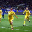 Постер, плакат: FIFA World Cup 2014 qualifier game Ukraine vs France