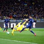 Постер, плакат: FIFA World Cup 2014 qualifier game Ukraine vs France