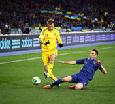 FIFA World Cup 2014 qualifier game Ukraine vs France — Stock Photo