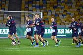 England National football team training — Stock Photo