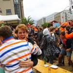Netherlands football team fans — Stock Photo #48858907