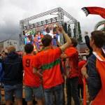 Netherlands football team fans — Stock Photo #48859133