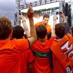 Netherlands football team fans — Stock Photo #48859145