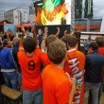 Netherlands football team fans — Stock Photo #48859219