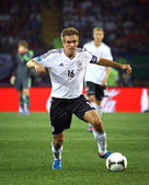 Philipp Lahm of Germany controls a ball  — Stock Photo