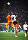 UEFA EURO 2012 game Netherlands vs Germany — Стоковое фото